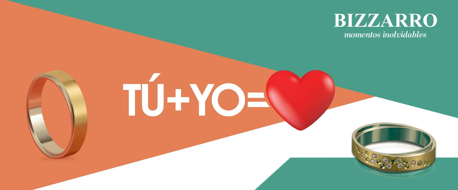Argollas que enamoran: Tú + yo = ♥