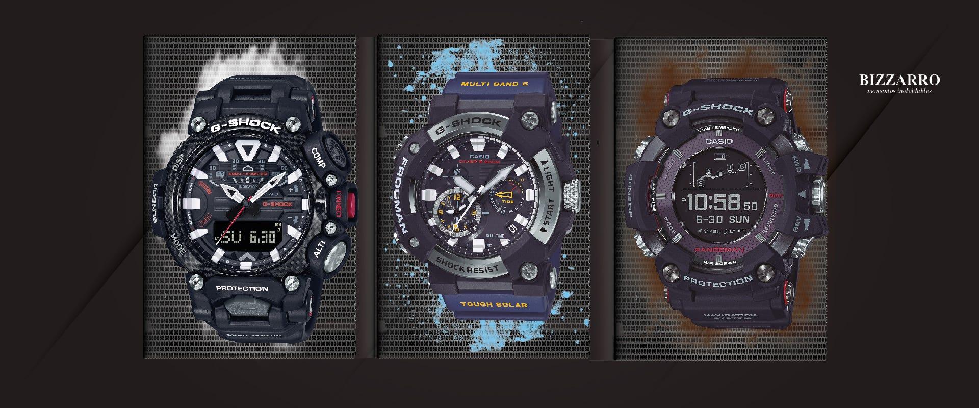 Relojes G-SHOCK dominan cualquier terreno, nada es un obstáculo