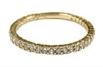 Churumbela Oro Amarillo 14K Con 20 Pts De Diamante