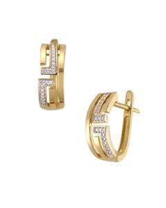 Aretes de Oro Amarillo con 8 Pts de Diamante