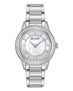Reloj Bulova Cristales para Dama Movimiento de Cuarzo con 2 Manecillas.