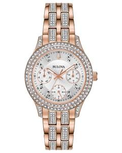Reloj Bulova Cristales para Dama. 292 Cristales Swarovski