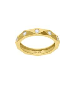 Anillo de Oro Amarillo 14K con 20Pts de Diamante (G-H) (Vs1-V2)