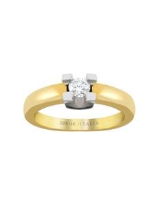 Anillo de Oro Amarillo y Blanco con 25 Pts de Diamante