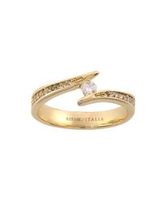 Anillo de Compromiso de Oro Amarillo con 1 Diamante de 11 Puntos, 14 Diamantes de 1 y 10 Diamantes de .50