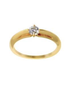 Anillo de Compromiso Solitario de Oro Amarillo con Un Diamante de 34 Puntos