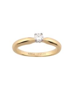 Anillo de Compromiso Solitario de Oro Amarillo Diamante 15 Puntos