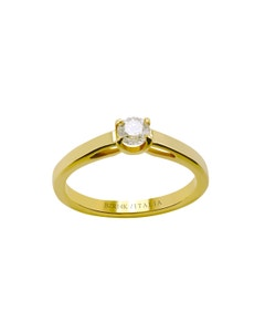 Anillo de Compromiso Solitario de Oro Amarillo con Un Diamante de 35 Puntos.