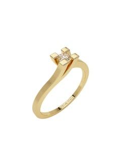 Anillo de Compromiso Solitario de Oro Amarillo con Un Diamante de 10 Puntos