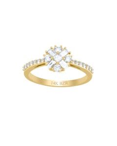 Anillo de Oro Amarillo 14K con 53Pts de Diamante