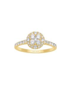 Anillo de Compromiso de Oro Amarillo con 60 Puntos de Diamante