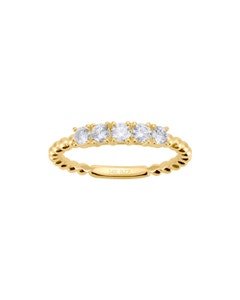 Churumbela de Oro Amarillo 14K con 42 Pts de Diamante