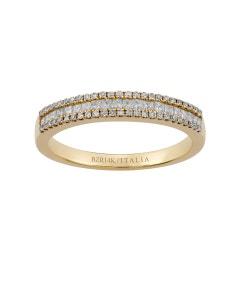 Anillo de Oro Amarillo de 14K con 38 Pts de Diamante