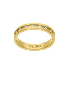 Anillo de Oro Amarillo 14K con 29Pts de Diamante (G-H) (Vs1-V2)