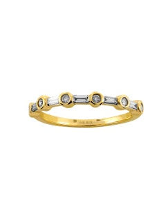 Anillo de Oro Amarillo con 26 Pts de Diamante 14K