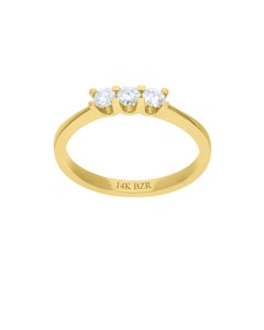 Anillo de Oro Amarillo 14K con 25 Pts de Diamante