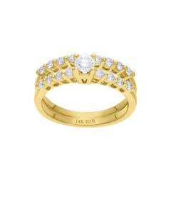Anillo de Oro Amarillo 14K con 67 Pts de Diamante