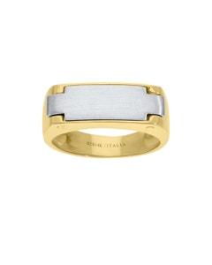 Anillo de Oro Amarillo y Blanco 14K para Caballero
