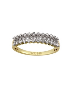 Anillo de Oro Amarillo con 50 Pts . de Diamante