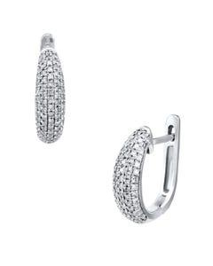 Arracadas de Oro Blanco de 14K con 37 Pts. de Diamante