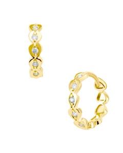 Arracadas de Oro Amarillo 14K con Zirconias