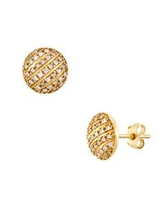Aretes de Oro Amarillo con 33 Pts de Diamante
