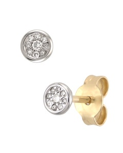 Aretes de Oro Blanco con 9.4 Ptos Diamante