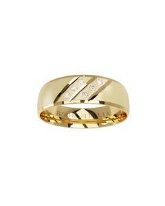 Argolla de Oro Amarillo con 6 Diamante de 1.25