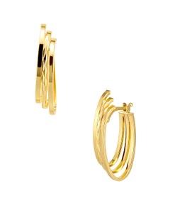 Arracadas de Oro Amarillo