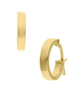 Arracadas de Oro Amarillo 14K Chicas 10Mm