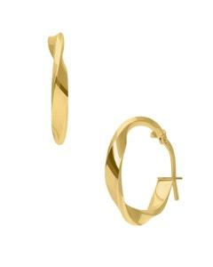 Arracadas de Oro Amarillo Espiral 14K 14Mm