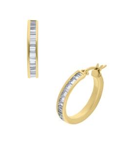 Arracadas de Oro Amarillo 14K con Zirconia 15Mm