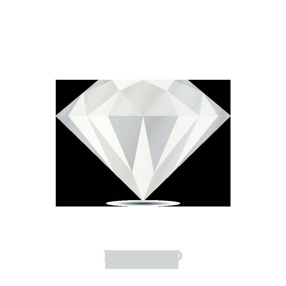 Dije de Letra Inicial con Cadena En Oro Blanco con 8 Diamante de 0.50 (Todas Las Letras)