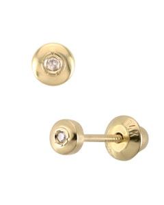Broqueles de Oro Amarillo 14K con 1.6 Puntos de Diamante
