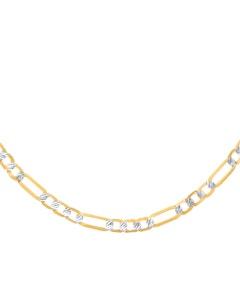 Cadena de Oro Amarillo con Diamantado Platinado 14K  55 Cm Cal 65