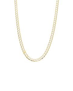 Cadena de Oro Amarillo de 14K con Diamantado Platinado 65Cm Cal 100