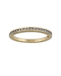 Anillo de Oro Amarillo 14K con 23 Diamante de 1 Punto