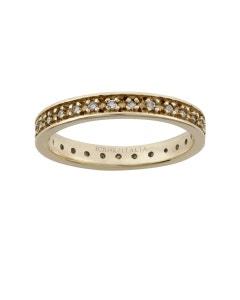 Churumbela de Oro Amarillo con Diamante de 27 Pts