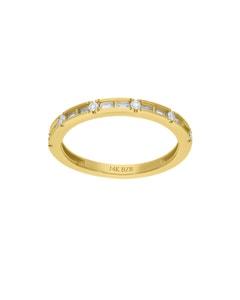 Churumbela de Oro Amarillo 14K con 24Pts de Diamante