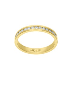 Churumbela de Oro Amarillo 14K con 29 Pts de Diamante