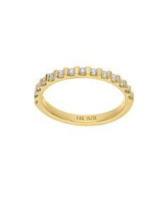 Churumbela de Oro Amarillo 14K con 28Pts de Diamante