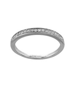 Churumbela de Oro Blanco con 18 Pts de Diamante