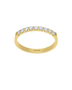 Churumbela de Oro Amarillo 14K con 27Pt de Diamante