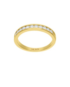 Churumbela de Oro Amarillo 14K con 36Pts de Diamante