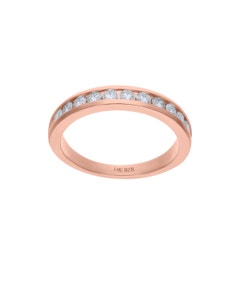 Churumbela de Oro Rosa 14K con 52Pts de Diamante (H-J, Vs1-Vs2)