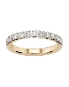 Churumbela de Oro Amarillo con 50 Pts de Diamante