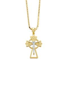 Crucifijo de Oro Bicolor