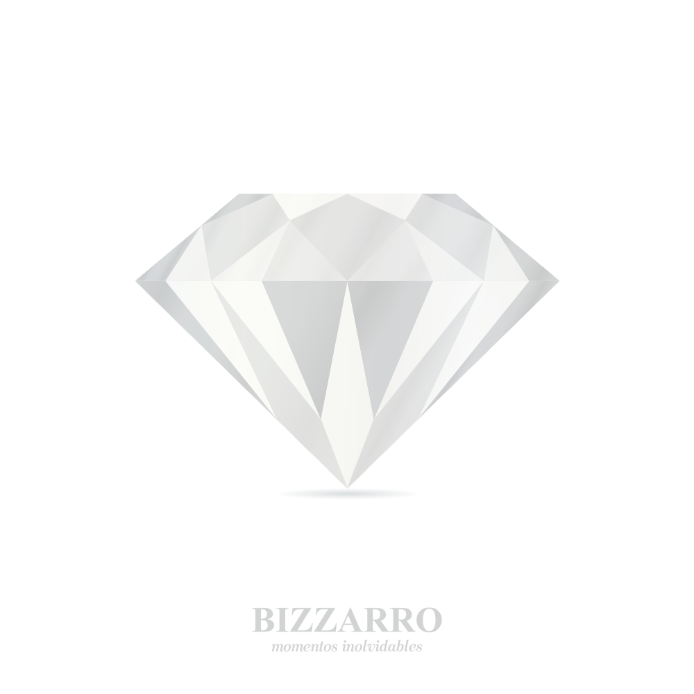 fce5c79d2aea Broqueles De Oro Blanco Con Zirconia Bzr23933B-Bizzarro Momentos ...