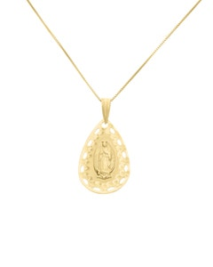 Medalla de Oro Amarillo 14K Sin Cadena