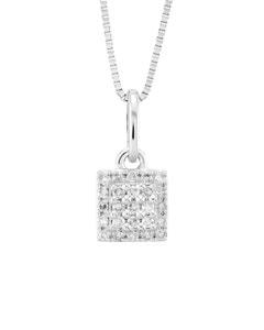 Dije de Oro Blanco con 10 Pts Diamante